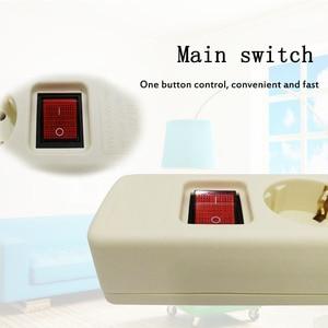 Image 3 - 4.8mm EU Socket European standard terminal Wiring board power strip socket Multi function master control switch 3/4/5/6 hole