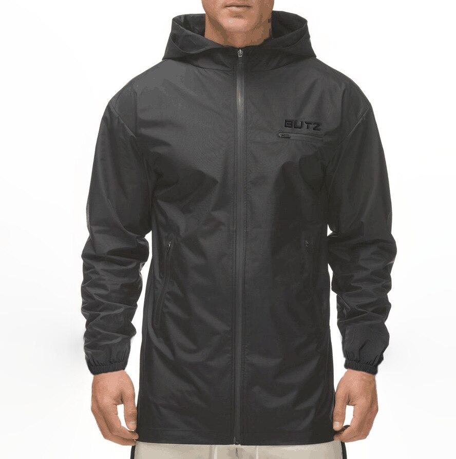 Fitness Sportswear Jacket Men Outdoor Hooded Coat Windbreak Windproof Cold And Rainproof Jackets Joggers Sweatshirt Male Jacket