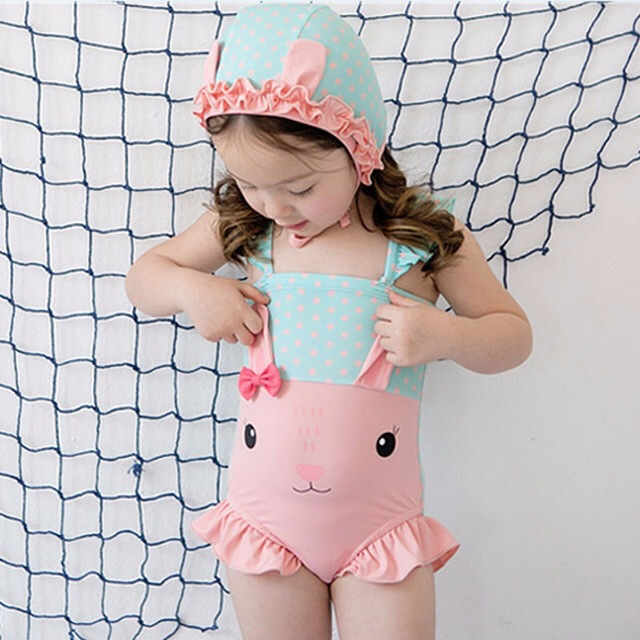 2019 New Style Summer INS Infants Tour Bathing Suit Holiday Beach Women's Small CHILDREN'S One-piece Swimming Suit Women's A Gen