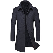Mens Woolen Overcoat,Middle-aged Overcoat,Middle-long Overcoat, Overcoat.Men Coat,long Coat,Mens Wool Coat