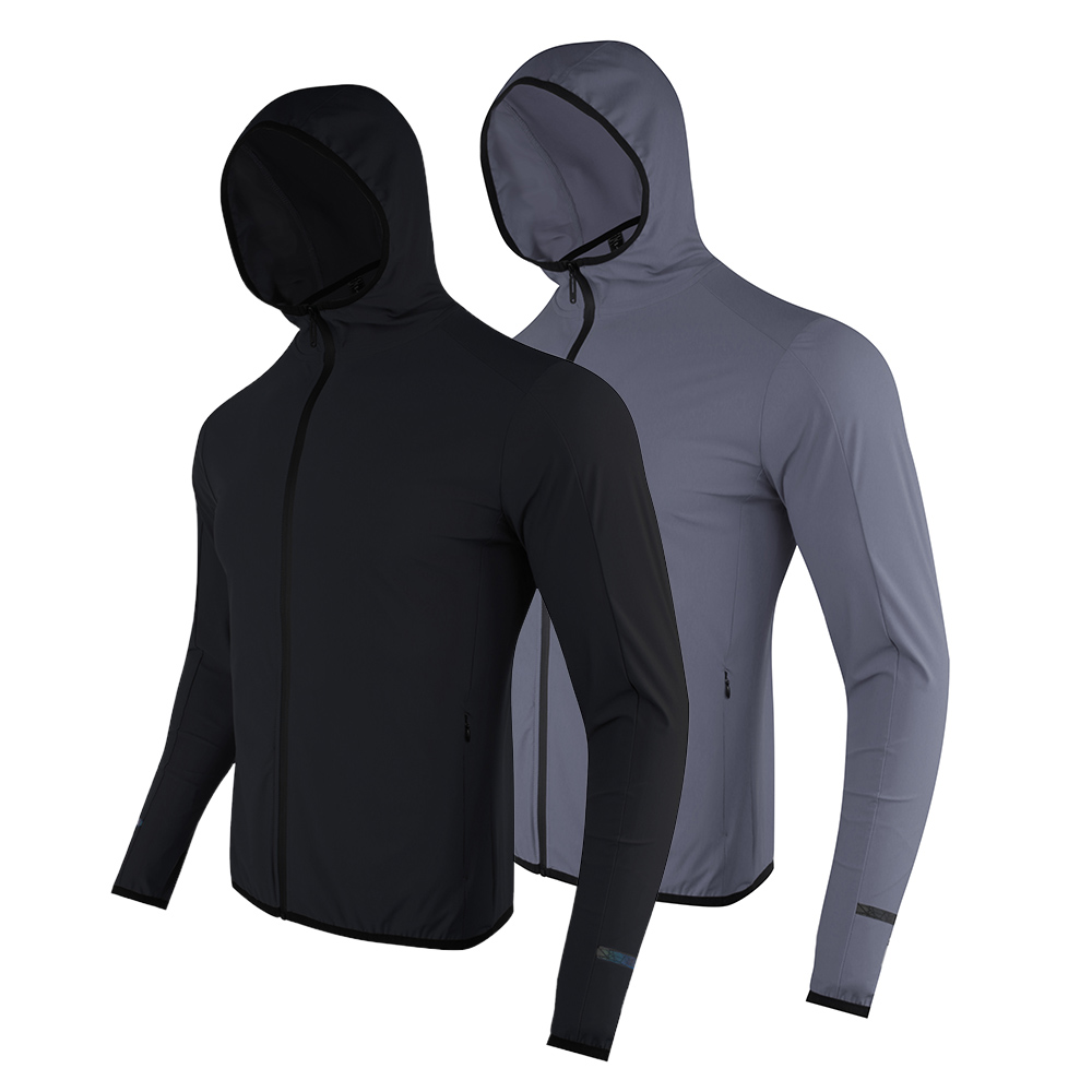 2021 Autumn and Winter Fitness Quick Dry Sport Jacket Men With Hood Sportswear Running Outdoor Long Sleeve Gym Clothes