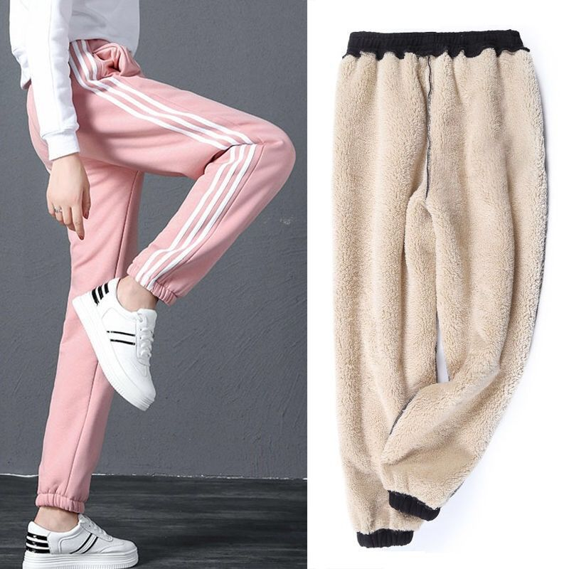 Winter Women Gym Sweatpants Workout Fleece Trousers Solid Thick Warm Winter Female Sport Pants Mujer Running Pantalones