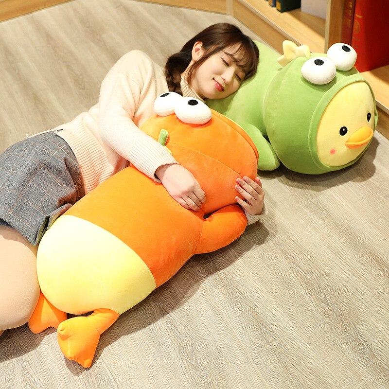 1pcs Cute Duck Doll Big Duck Plush Doll Bed Sleeping Pillow Super Soft Birthday Gift Female Down Cotton Filling
