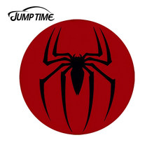 JumpTime 13cm x 13cm 3D Car Stickers Spiderman Classic Logo Cool Car Styling Waterproof Body Bumper Decals Door Decoration(China)