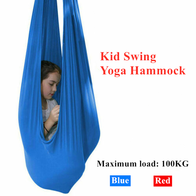 Hot Discount E3f72b Kid Sensory Swing Indoor Yoga Hammock Steady Hanging Seat Chair House Cuddle Therapy Swing For Autism Adhd Aspergers Cicig Co
