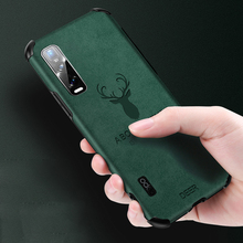 For OPPO Find X2 Pro Case Original Elk Pattern Leather Back Cover Reno 2 3 ACE Realme XT X50 6