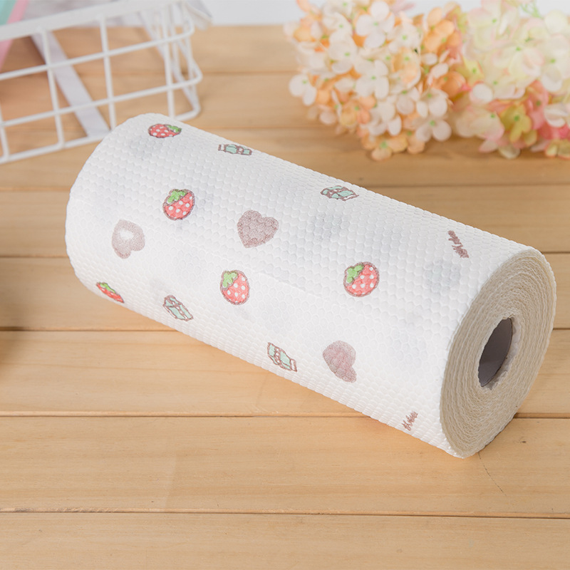 Fruit Kitchen Paper Suction Absorbent Roll Paper Restaurant Kitchen Office Toilet Wipe Paper Washable Paper
