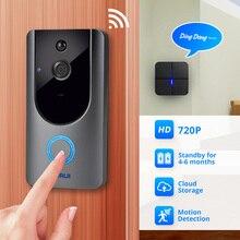 KERUI 720P citofono videocitofono videocamera di sicurezza Wireless campanello per visione notturna Audio bidirezionale