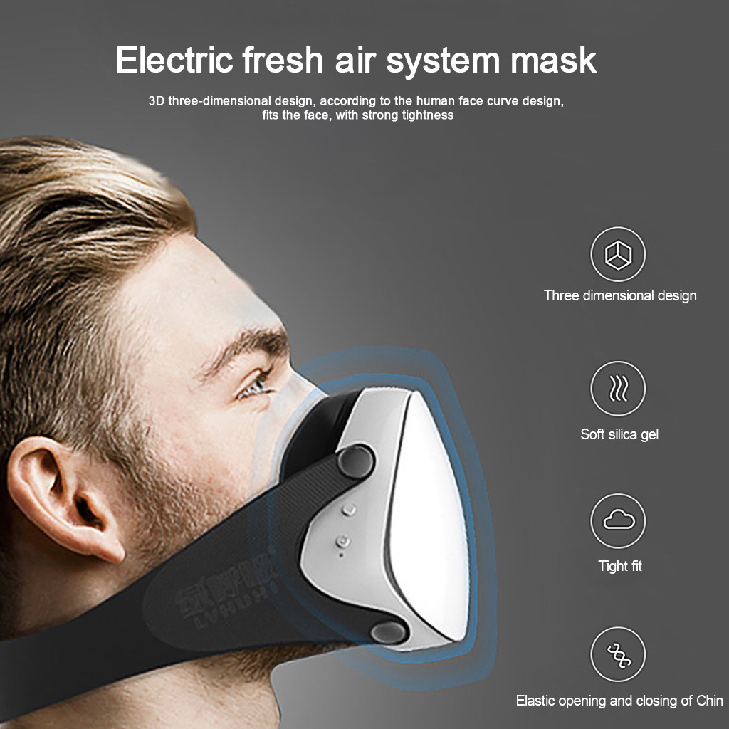 Smart Electric Mask Adult Fashion Suffocating Cycling Sports Intelligent Purification Filter Protection Running Mouth Mask|Cycling Face Mask|   - AliExpress