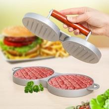 DIY торты вечерние чайник алюминий с антипригарным покрытием двойной бургер, пресс для гамбургера Краб домашний кухонный барбекю инструменты для приготовления пищи