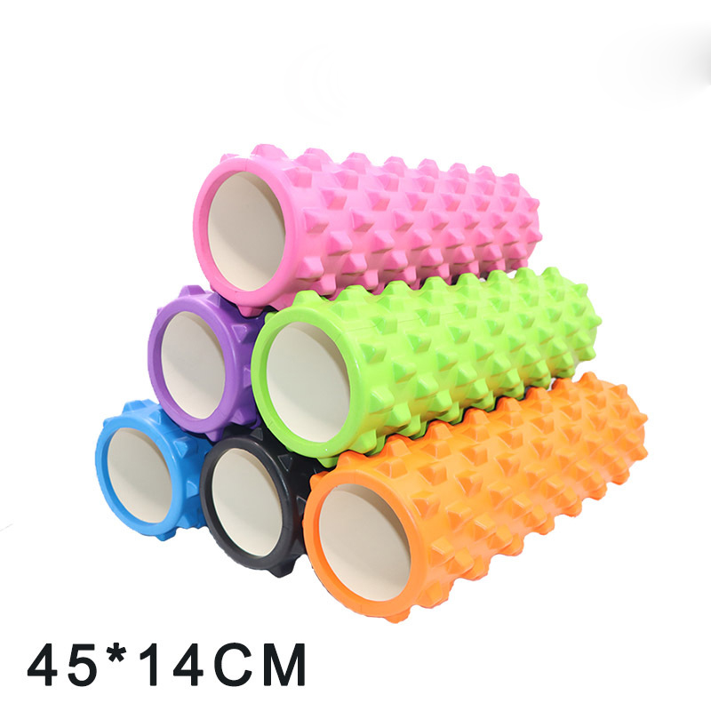 EVA Yoga Foam Roller Fitness Muscle Training Back Massage Roller 45x14cm Yoga Roller Pilates Foam Roller For Physiotherapy Rehab