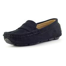 Nowe dziecięce buty dla chłopców mokasyny płaskie sneakersy dziewczęce mokasyny skórzane wsuwane miękkie oddychające obuwie dziecięce tanie tanio RUBBER Unisex Pasuje prawda na wymiar weź swój normalny rozmiar 10 t 11 t 12 t 13 t 14 t 14 T Skóra Mieszkanie z
