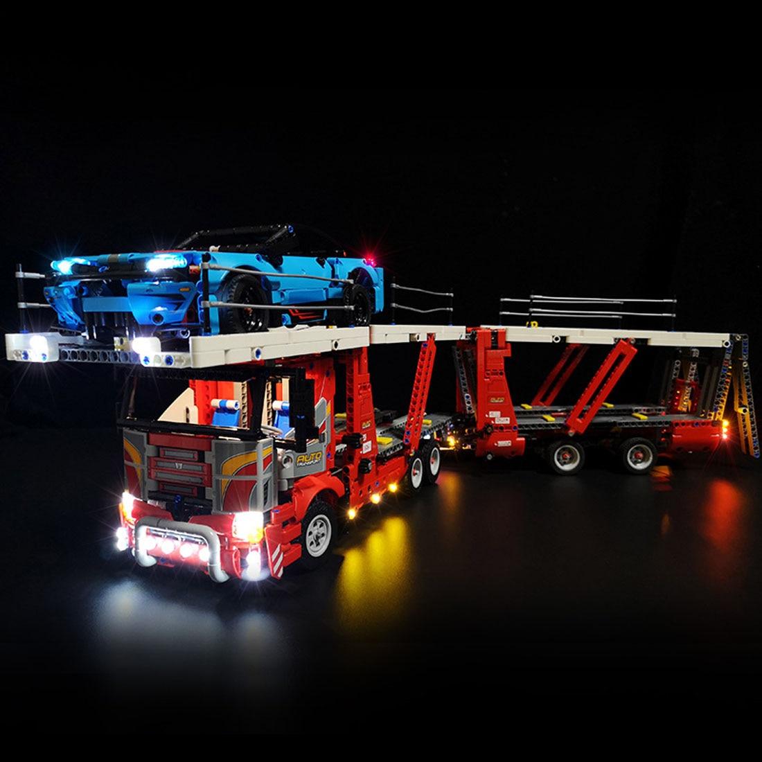 USB Powered LED Lighting Kit For Car Transporter 42098 Model Block Gift Toy (LED Included Only, No Kit)