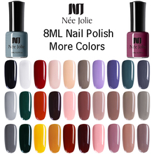 NEE JOLIE 8ml Nail Polish Pure Series Matte Effect Art 7.5ml Mirror Lacquer 54 Colors Available Decoration