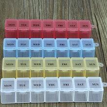 Caixa de pílula portátil dispensador de armazenamento 7 dias caso de pílula mini semanal tablet pílula medicina caixa titular organizador de pílula de armazenamento