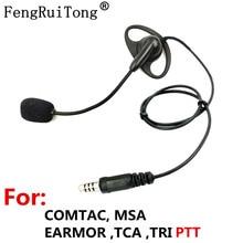 D-type tactical headset, adjustable microphone stick NATO Plug for COMTAC MSA EARMOR TCA TRI PTT for Walkie-talkie prc152 PRC148