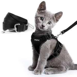 Harness Vest Car-Seat-Belt Escape-Proof Soft-Mesh Kitten Puppy Adjustable And for Adapter