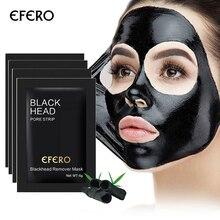 Máscara removedora de cravo do nariz, 5 unidades, máscara, tira para poros, tratamento de acne, limpeza profunda da máscara skincare