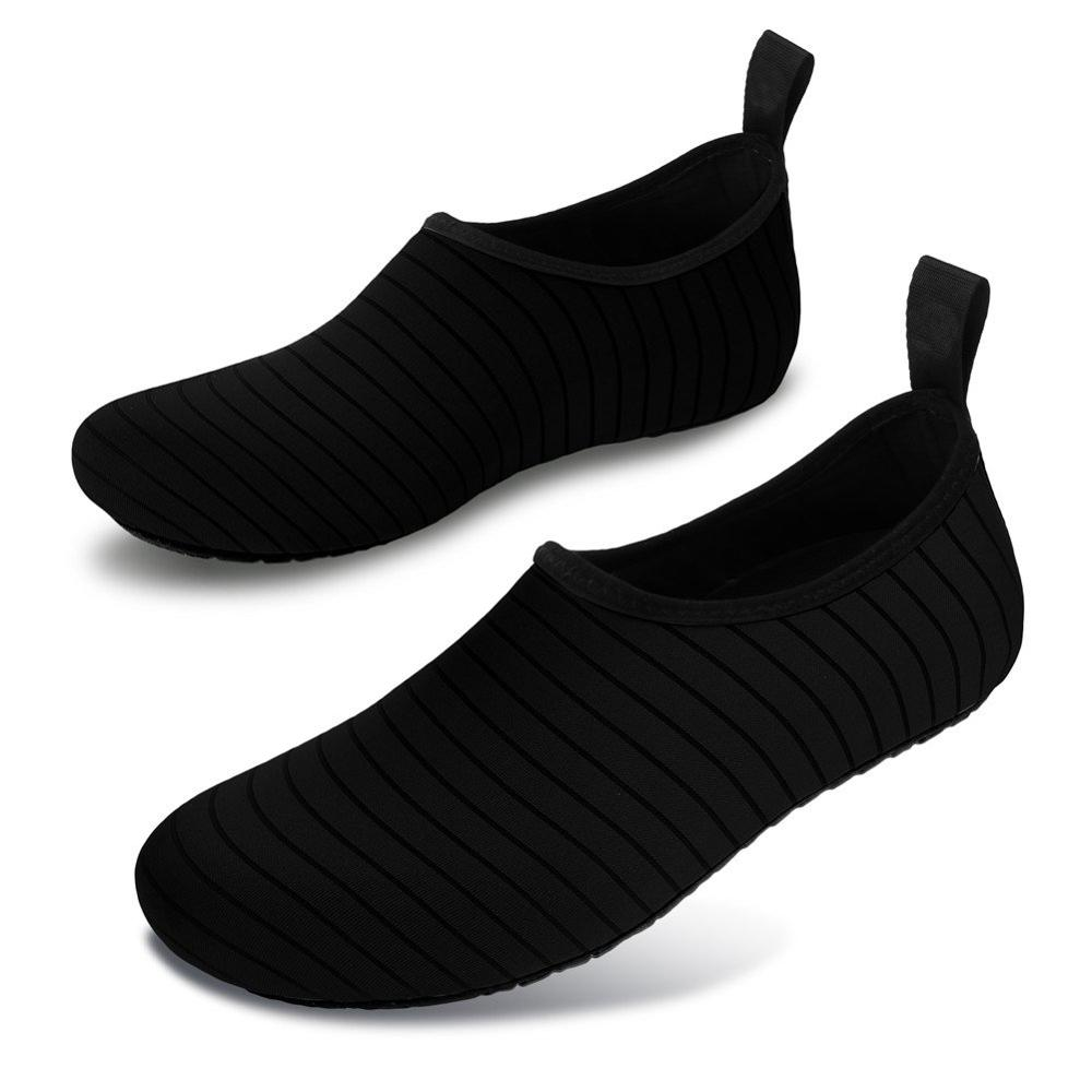 Water Shoes Swimming Sock Beach Shoes Quick Drainage Jogging Yoga Aqua Shoes For Women Men Upstream Sea Barefoot Sneakers Black