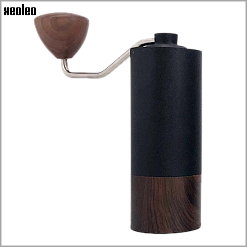 XEOLEO Manual Coffee Grinder Portable Coffee Grinder Aluminum Coffee Miller Coffee Bean Milling Machine 35g Conical Burr Grinder
