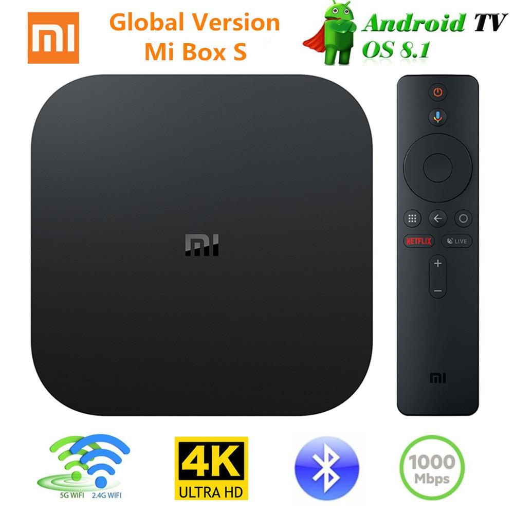 [Version globale] Xiao mi mi Tv Box S Android 8.1 4K QuadCore Smart TV Box 2GB 8GB 2.4G 5.8G WiFi BT4.2 Mali450 1000Mbp VS mi BOX 3