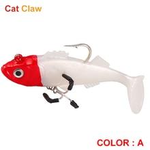 Cat Claw T-tail FishingLureTreble hooks softBait 20/37g 70/95mm Professional FishingLure Middle lower water  Layer Use