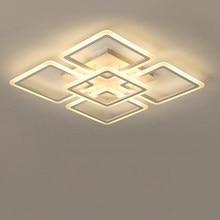Moderno led lustre de teto lustres iluminação para sala estar quarto cozinha lustre com controle remoto luzes do dispositivo elétrico
