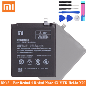 цена на Xiao Mi Original Replacement Phone Battery For Xiaomi Redmi Note 4X / Note 4 global Snapdragon 625 4000mAh BN43 Phone Battery