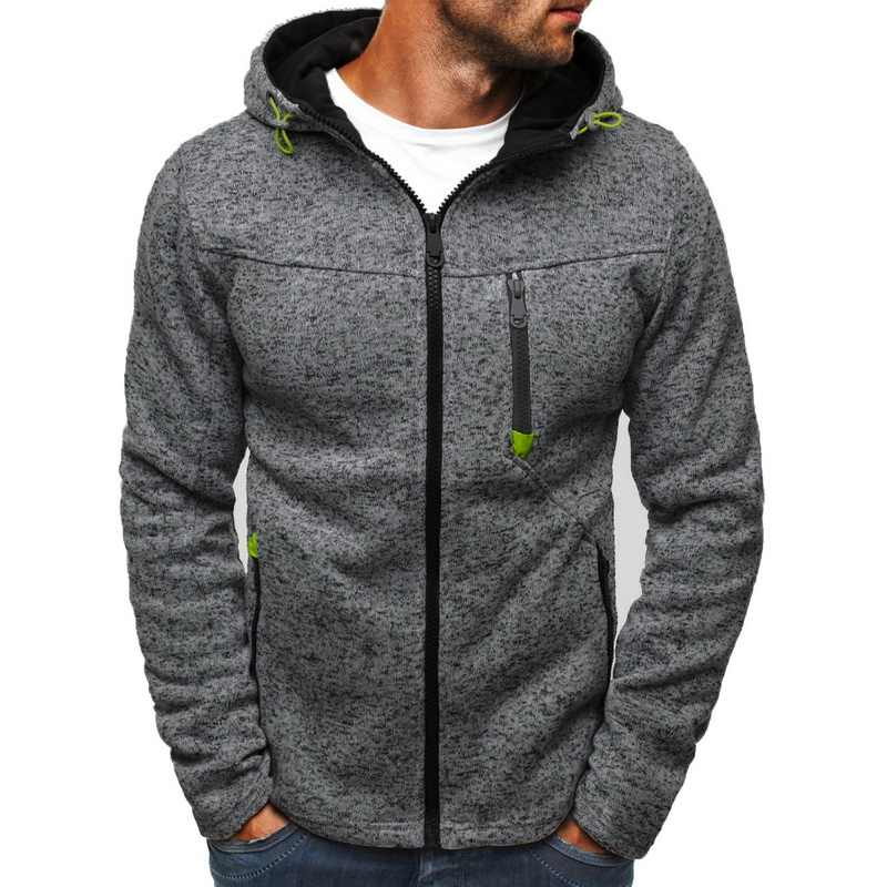 Mannen Sport Casual Wear Rits Mode Tij Jacquard Hoodies Fleece Jas Herfst Sweatshirts Herfst Winter Jas M-3XL