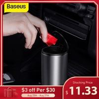 Baseus-Cubo de basura o almacenamiento de accesorios para coche, minicontenedor sirve como bolsa para organizador del polvo interior del auto