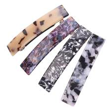 4pcs Duck Teeth Hairpins Long Marble Elegant Hair Pin Hair Clip Headdress DIY Barrettes For Women Ladies(China)