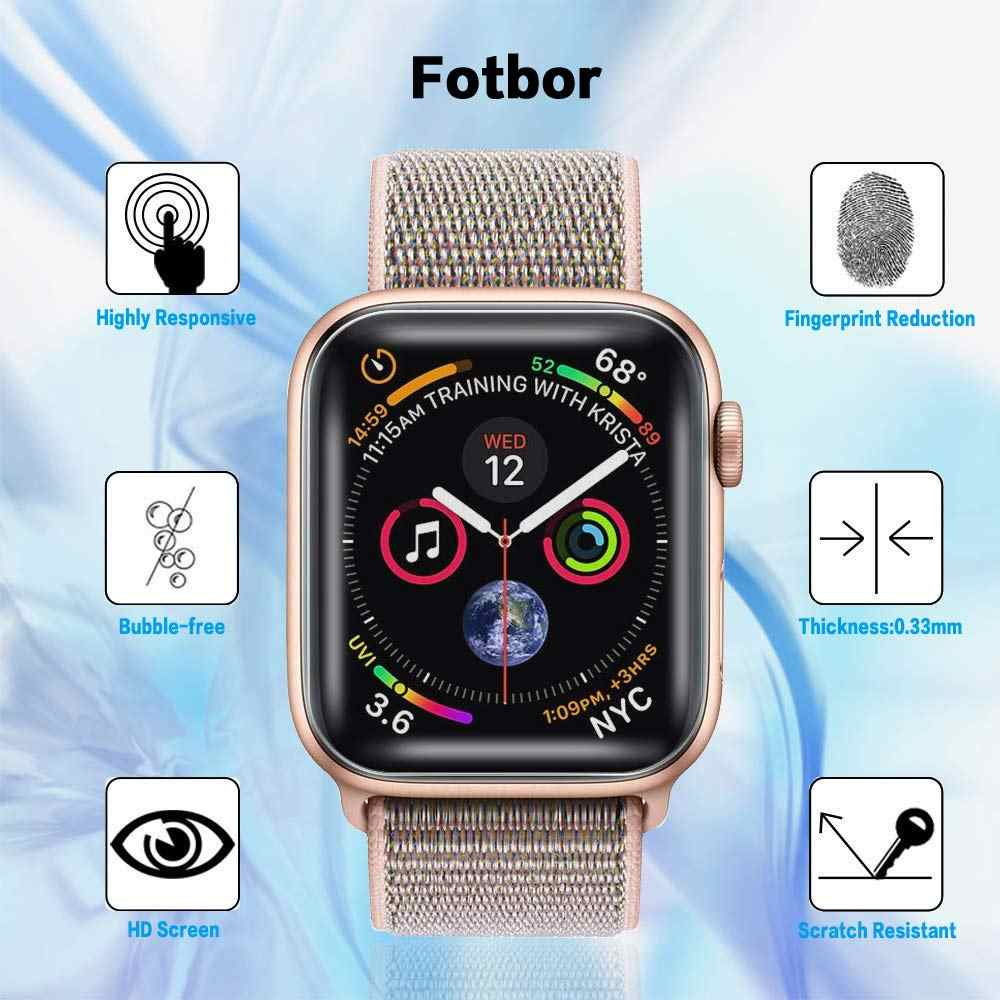 Full Protective Film for Apple watch Screen Protector 3D case 42mm 44mm 40mm 38mm iwatch 5 4 3 2 1 Soft Films Not Tempered Glass