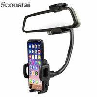 Suporte Do Telefone Do Carro ajustável Espelho Retrovisor Montar Titular Do Telefone Do Carro de 360 Graus Para o iphone Samsung Smartphone GPS Suporte Universal