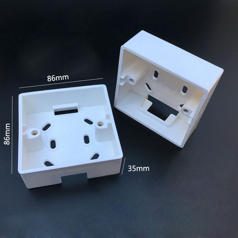 10pcs Wall Switch Socket Mounting Wiring Bottom Box Surface 86 Type Junction 86mm*86mm*35mm
