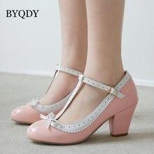Byqdy женские туфли лодочки в стиле Мэри Джейн; Туфли «лолита»;