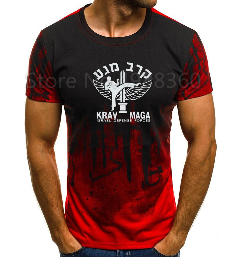 Men Summer Short Sleeves Casual Funny <font><b>T</b></font> <font><b>Shirt</b></font> Men Casual New Krav Maga <font><b>Israel</b></font> Combat System Self Defense Martial Artser <font><b>T</b></font>-<font><b>Shirt</b></font> image
