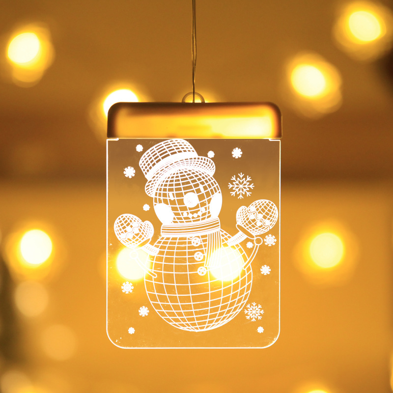 2019 3D Christmas Decorative Pendant LED Lights Decorative LED Lamp For Wedding Party Shop Store Decoration Suction Cup On Wall