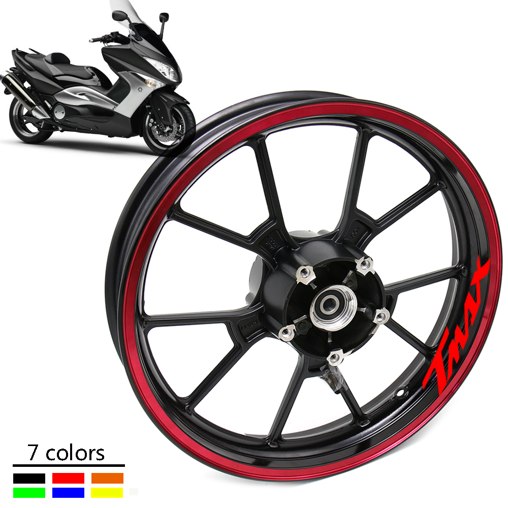 TMAX Motorcycle Wheel Decals Reflective Waterproof Stickers Rim Stripes  For TMAX T-MAX T MAX