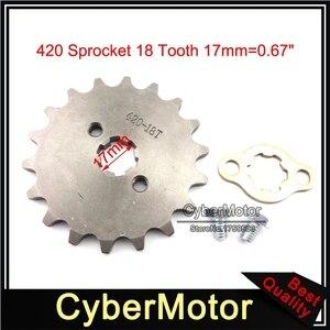 Motocykl 420 18 zębów 17mm silnik z przodu zębatka łańcuchowa dla 50cc 70 90cc 110cc 125cc atv quad 4 Wheeler Pit motor terenowy Motocross