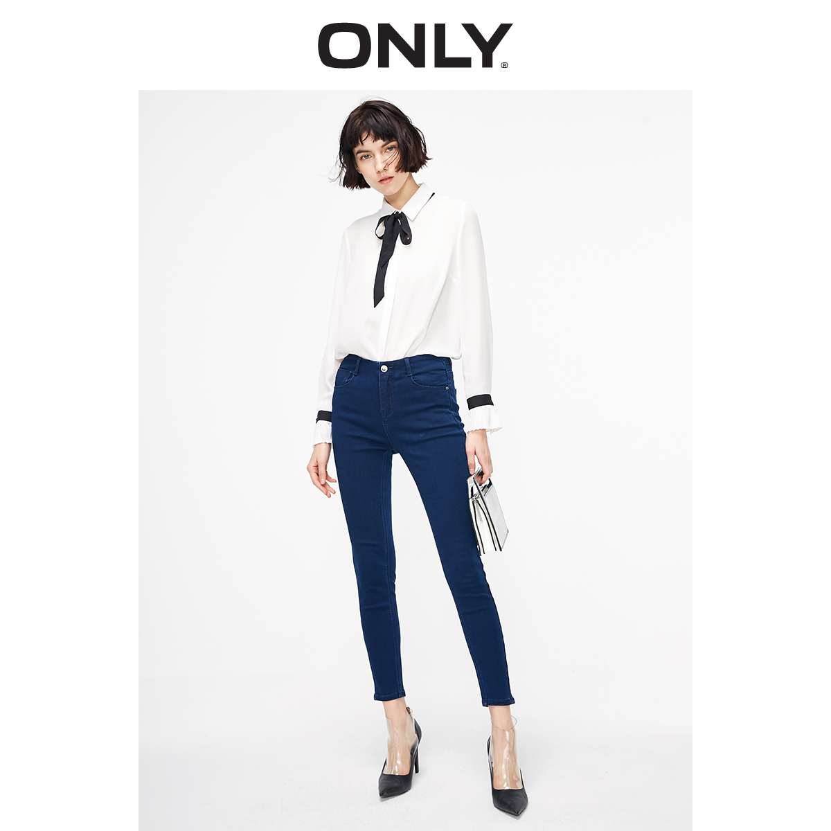 ONLY Women's Slim Fit Low-rise Slightly Stretch Tight-leg Crop Jeans | 119149557