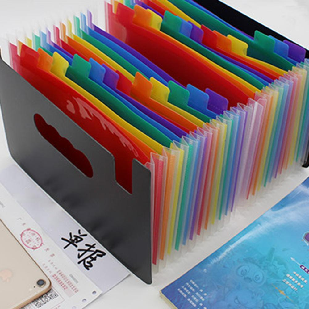 Colorful Filing Products Layer Big Document Bag Rainbow A5 Classification Test Papers Tool Business Expanding File Folders