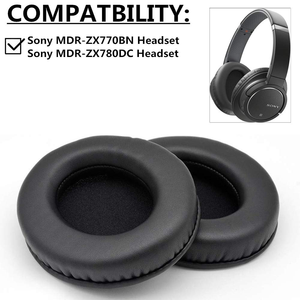 Replacement Earpads Pillow  Ear Pads Cushion Cover Repair Parts for Sony MDR-ZX770BN MDR-ZX780DC MDR ZX770BN ZX780DC Headphones