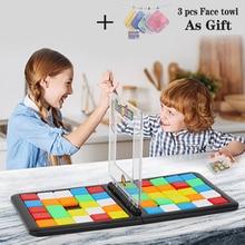 لعبة مكعبات البناء السحرية لعبة الألواح الممتعة اتصال بإطار لعبة سحرية للحفلات العائلية لعبة تعليمية هدايا عيد ميلاد للأطفال