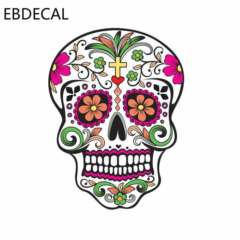 Наклейка на автомобиль мексиканский сахарный череп Lnterest для автомобиля/бампера/окна/стены наклейка наклейки DIY Декор CT5794