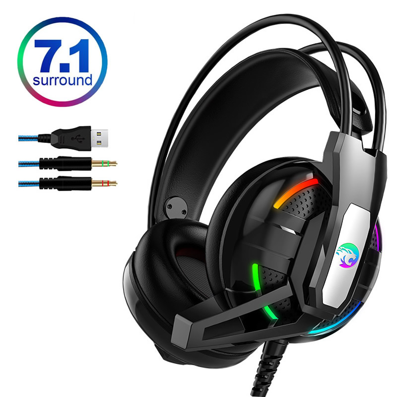 A12 <font><b>Gaming</b></font> Headphone 7.1 Channel Stereo Headset <font><b>with</b></font> <font><b>Microphone</b></font> Noise Cancelling <font><b>Earphone</b></font> for PS4/Laptop/PC Tablet Game Headset image