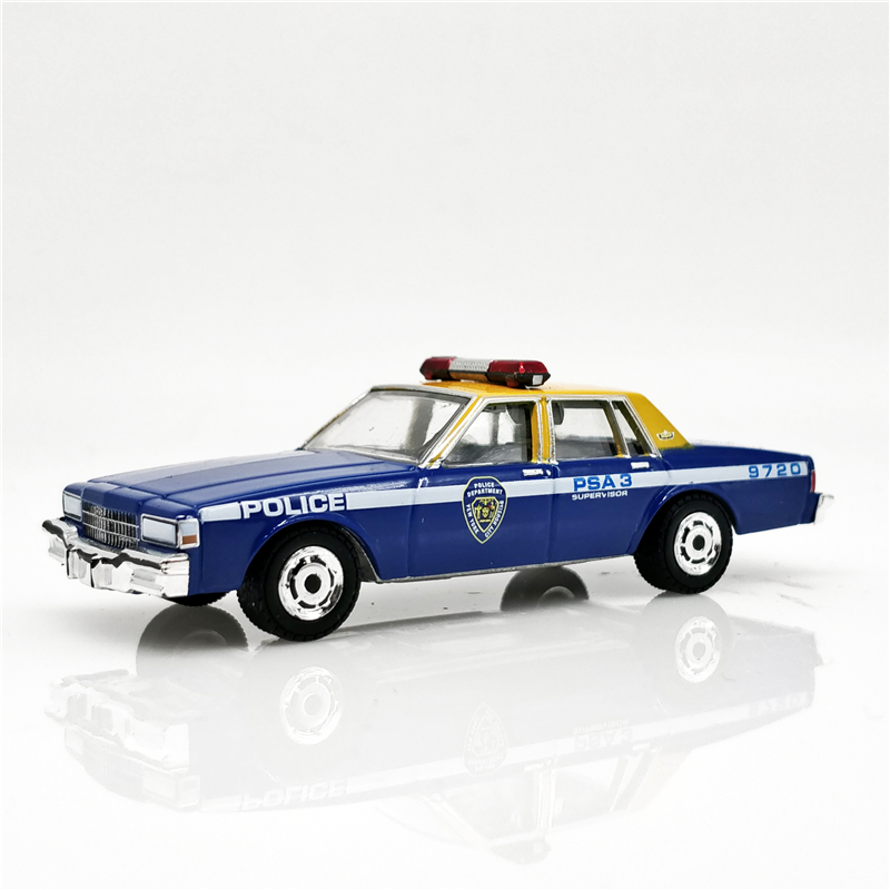 Greenlight 1:64 New York City Housing Authority Police 1990 <font><b>Chevrolet</b></font> Caprice Blue yellow Diecast Model Car Loose image