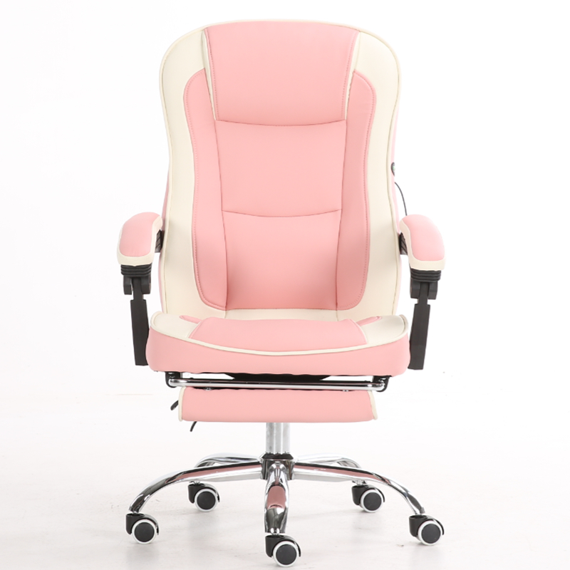 Computer Chair Anchor Chair Home Boss Office Chair Lift Reclining Swivel Chair Live Pink Girl Seat