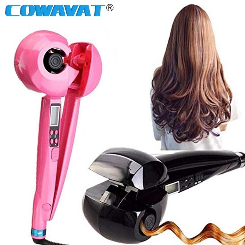 Автоматические бигуди для волос, волшебные гофрированные щипцы для завивки волос, ЖК экран, керамическое отопление, анти Пермь, щипцы для завивки волос, бигуди, инструменты Щипцы для завивки      АлиЭкспресс