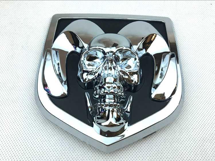 10pcsx череп логотип 3d эмблема пластиковая наклейка
