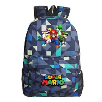 Boys Girls MARIO Anime Backpack Rucksack Kids Student Bag Gift School Bags